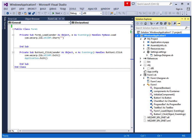 Remote Desktop Visual Basic .NET
