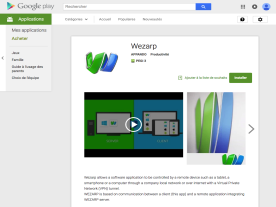 Wezarp for Android on Google play